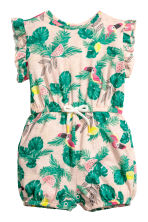 Patterned playsuit - Light pink/Parrots - Kids | H&M 1
